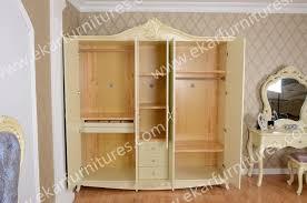 Wooden Armoire Wardrobe Room Furniture Design Antique Solid Wood Armoire Wardrobe 606