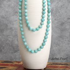 natural stone beaded necklace images Aobei pearl handmade beaded necklace made of natural stone beads jpg