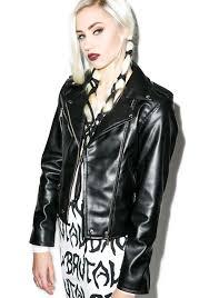 biker jacket killstar vegan biker jacket dolls kill