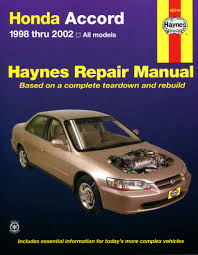 honda accord 1998 2002 haynes repair manual usa haynes