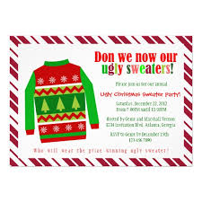 party invitations popular ugly christmas sweater party