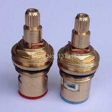 kitchen faucet cartridges 2 pcs 18mm brass replacement ceramic disc tap valves cartridges