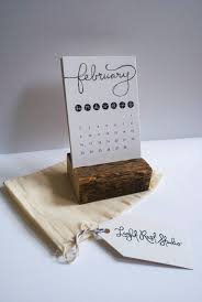 Small Easel Desk Calendar Rustic Desk Calendar With Stand Typographic By Lightruststudio