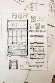 24 professional examples of web and mobile wireframe sketches