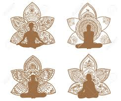 yoga tattoo pictures meditation silhouette with lotus patterns of tattoo henna yoga
