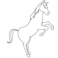 Le cheval en coloriage à imprimer  Magicmamancom