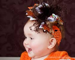 gobble turkey boutique baby headband or hair bow