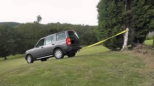 older land rover discovery a landrover discovery pulling out an old tree stump youtube