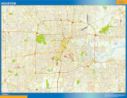 Houston Tx Zip Code Map Our Houston Wall Map Wall Maps Mapmakers Offers Poster Houston