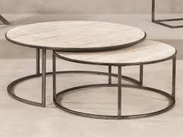 marble top nesting tables round nesting coffee table best of round coffee table marble top