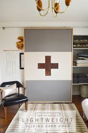 Interior Barn Doors Diy How To Build A Lightweight Sliding Barn Door U2022 Vintage Revivals