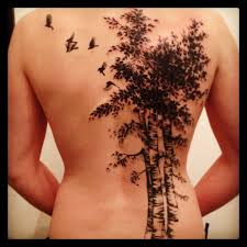 aspen tree i want a tree with birds flying out that