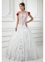 buy red and white ball gown wedding dress uk online joybuy co uk