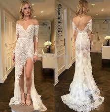 convertible mermaid wedding dress grace lace shoulder mermaid wedding dresses 2017 side