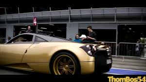 pagani zonda gold gold pagani huayra launch control sounds and details youtube