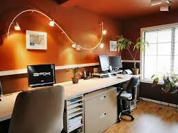 shared home office with desk and simple chair also unique