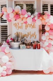 bridal shower ideas mimosa bar set up for a bridal shower bridal shower ideas