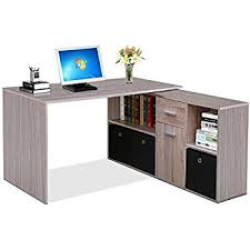 Computer Desk With Tower Storage Lexa Corner Home Office Computer Desk Finished In Black 4