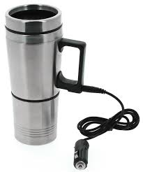 Heated Coffee Mug by Travel Mug Cup 12v Electric Heated Thermal Thermos In Car Drink