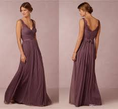 bridesmaid dresses 2016 cheap long for weddings grape chiffon v