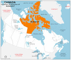 map of canada by province nunavut location map location map of nunavut province canada