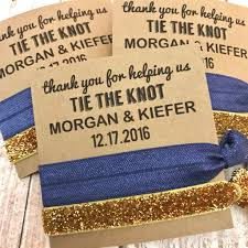 thank you favors thank you for helping us tie the knot wedding favors hair tie