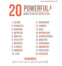 20 powerful words to use in a cover letter let u0027s find me a job