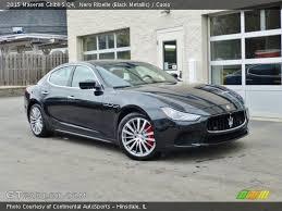 2015 Maserati Ghibli Interior Nero Ribelle Black Metallic 2015 Maserati Ghibli S Q4 Cuoio
