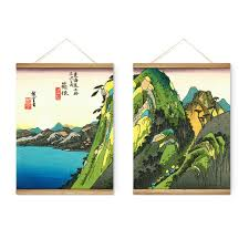 japanese seascape mountain decoration wall pictures hanging