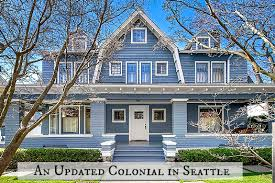 colonial style a blue and white colonial style craftsman in seattle hooked on