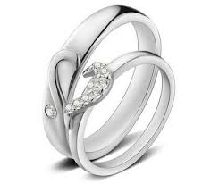 engagement rings for couples cz diamond accents half heart engagement rings for couples in 925