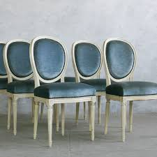 Vintage Dining Room Chairs Eloquence One Of A Kind Vintage Dining Chairs Louis Xvi Slate