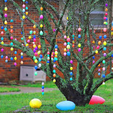 easter egg tree decorations 50 best diy outdoor easter decorations prudent pincher