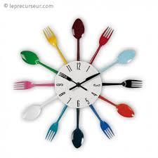horloge murale cuisine horloge murale fourchettes spécial cuisine leprecurseur com