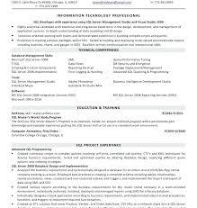 sharepoint resume sharepoint developer sle resume format database engineer 8