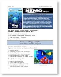 movies grow english esl movie lessons finding nemo