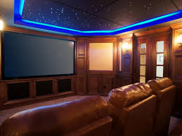 home theater basement round track ceiling lamp black ceiling paint
