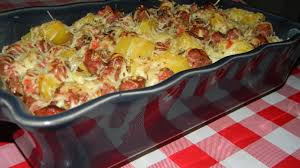 cuisine familiale recette gratin de choux fleur brocolis aux saucisses de toulouse cuisine