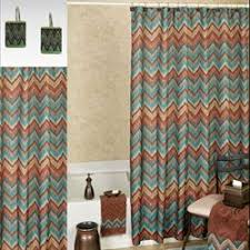 Shower Curtain Blue Brown Bath Shower Curtains And Shower Curtain Hooks Touch Of Class