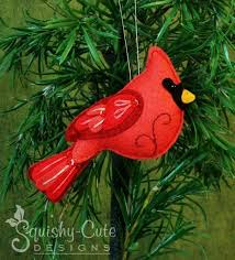 felt cardinal by squishy designs sewing pattern