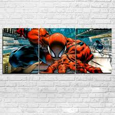 online buy wholesale spiderman 3 pictures from china spiderman 3 wall art frame living room hd printed pictures 3 pieces abstract spiderman canvas painting home decor