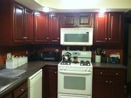 Kitchen Ideas With Cherry Cabinets by Bathroom Minimalist Kitchen Design With Oak Kitchen Cabinets And