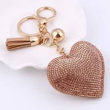 crystal key rings images Heart crystal key cover caps car interior accessories jpg