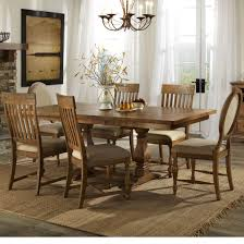 dining trestle table and chair set with 6 chairs by intercon