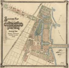 Chicago Map Of Usa by Souvenir Map Of The World U0027s Columbian Exposition At Jackson Park