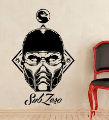 aliexpress com buy sub zero vinyl sticker decal mortal kombat