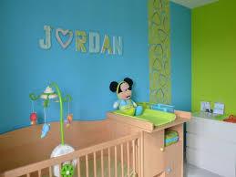 chambre b photos d coration de chambre b enfant gar on enfantin bleu et vert
