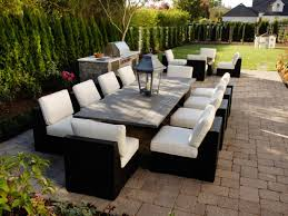 patio layouts decorated with stylish furniture for pleasure