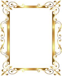 halloween border transparent background gold border frame deco transparent clip art image gallery