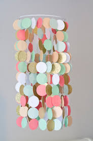 Gold And Coral Bedroom Coral Peach Mint And Gold Crib Mobile Modern Circle